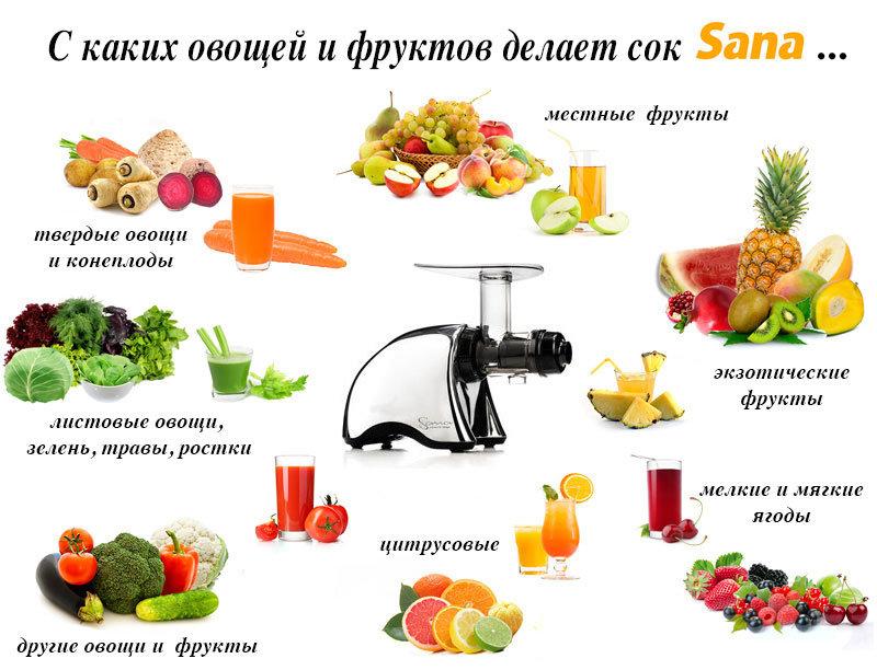Как сделать из фруктов сок